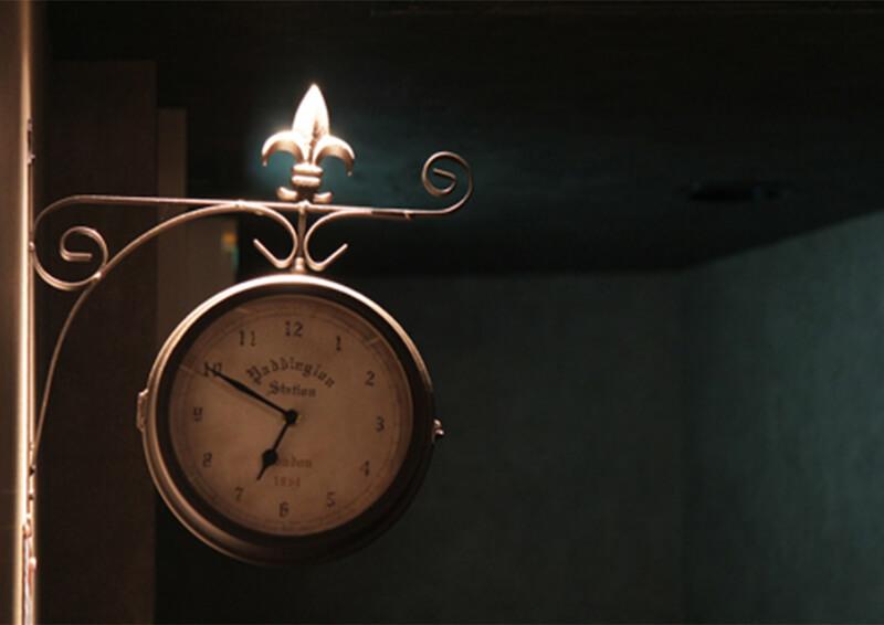 店舗内の時計