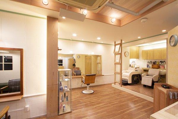 美容室店内の店舗デザイン
